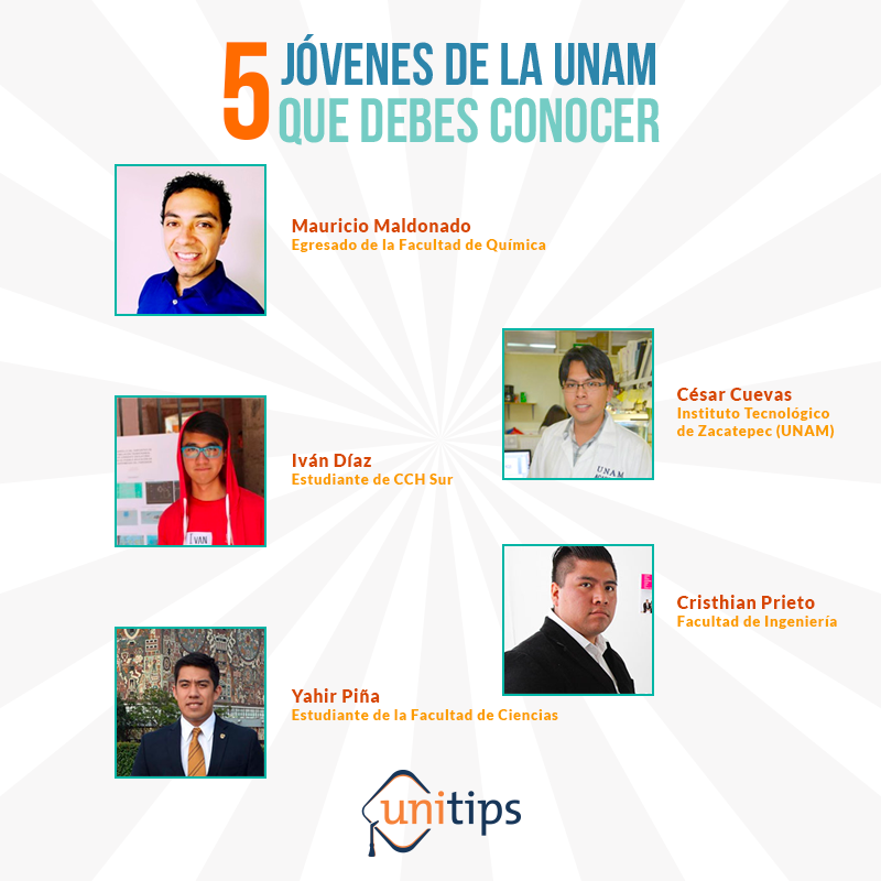 5 jóvenes de la UNAM que debes conocer