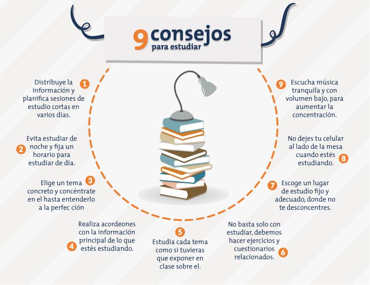 9 consejos para estudiar