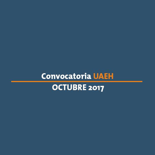 Convocatoria de ingreso a la UAEH 2017
