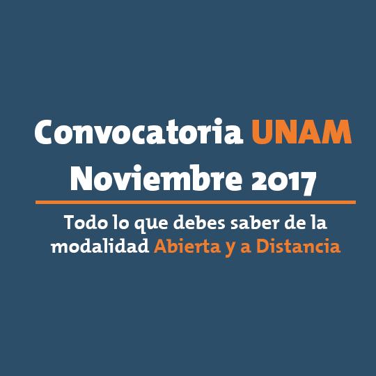Convocatoria UNAM 2017 SUAyED