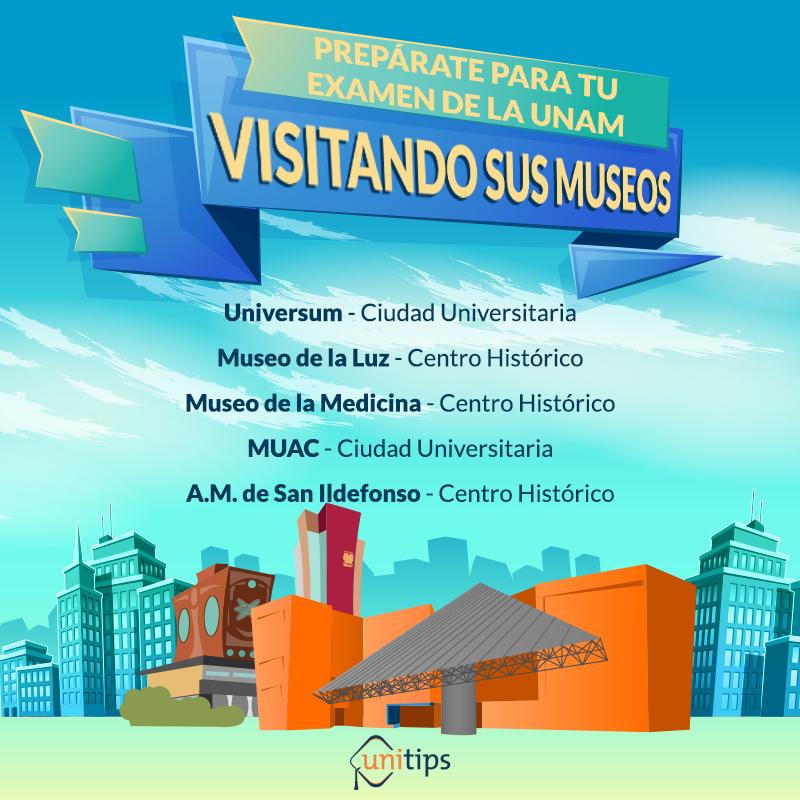 Prepárate para tu examen de la UNAM visitando sus museos