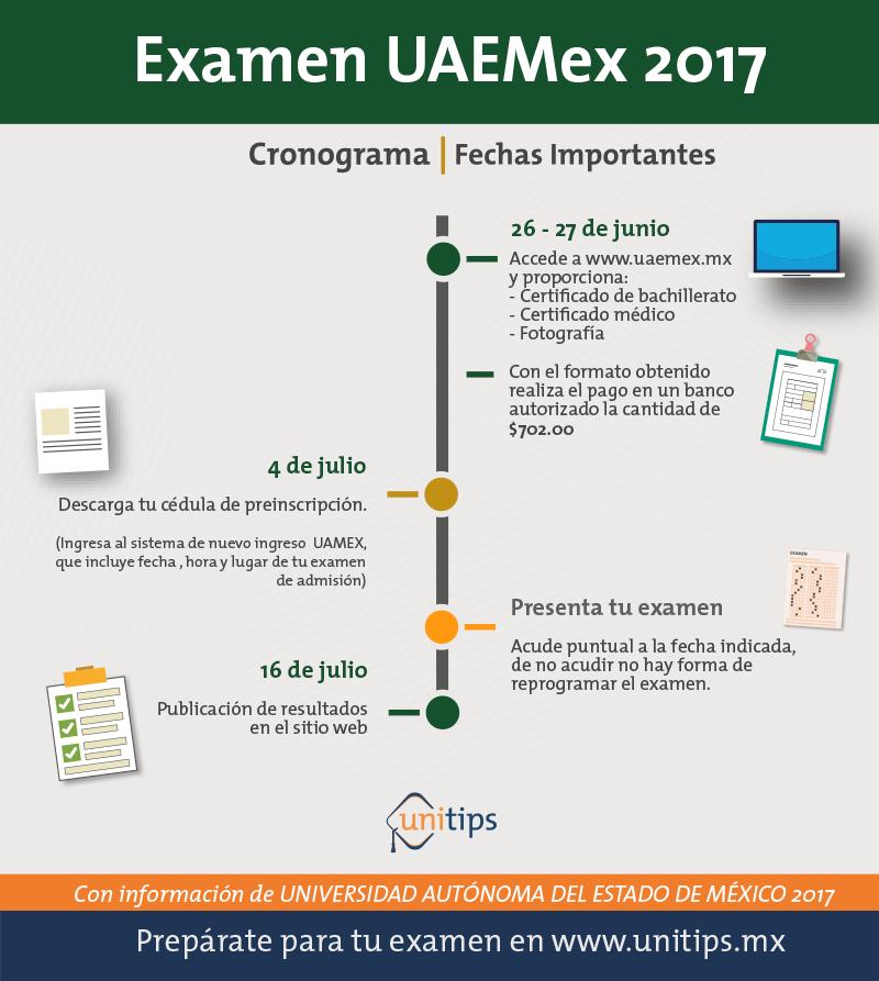 UAEMex; Convocatoria Junio 2017