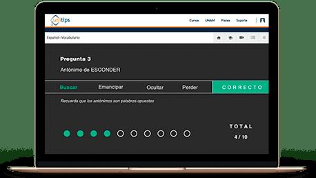 Utiliza la tecnología a tu favor, en UNITIPS somos un sistema digital 100% en línea para estudiar el examen CENEVAL EXANI-II